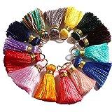 Gsyamh Ciondolo di Nappe Decorative Colorata Piccole Nappe Chiave Cinghie Catena Nappa Adatto per Gioielli Bracciale Collana