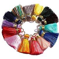 Gsyamh Ciondolo di Nappe Decorative Colorata Piccole Nappe Chiave Cinghie Catena Nappa Adatto per Gioielli Bracciale…