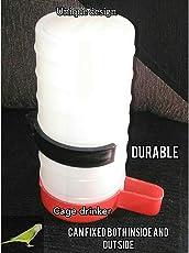Praish Plastic Cage Feeder for Birds, 1l (Red, Praish)