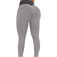 1 ~ 2 Pezzi Leggings Elasticizzati da Donna a Vita Alta Controllo della Pancia Pantaloni a Compressione anticellulite…