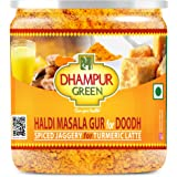 Dhampure Speciality Haldi Turmeric Masala Gur Gud Jaggery Powder for Milk Doodh, Turmeric Latte, No Added Sugar, Natural Reme