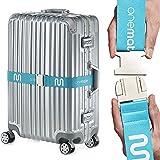 OneMate Koffergurt mit Metallschnalle (1er) – Robuster Gepäckgurt für sichere Reisen | GRATIS Zufriedenheitsversprechen