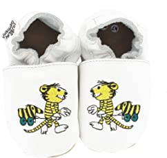 HOBEA-Germany Krabbelschuhe Leder, Baby & KinderHausschuhe für Mädchen und Jungen, Janosch Babyschuhe