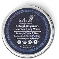 Rustic Art Organic Kokum Rosmary Bearded Face Wash Concentrate | Beard & Skin with Neem | 35g