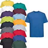Russell 10er Pack Silver Label Klassisches T-Shirt XS - 4XL 100% Baumwolle