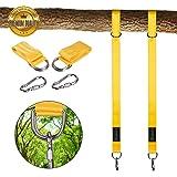 Schaukel Befestigung Swing Hanging - 2 Stück 1,5M Aufhängeset Befestigungs-Set für Schaukeln Hängematte Hängesesse 1270 KG mit 2 x Premium Karabiner , einfach zu installieren