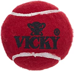 Vicky Cricket Ball Tennis Heavy, Pack of 6 (Maroon)