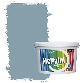 McPaint Bunte Wandfarbe Taubenblau   5 Liter   Weitere Blaue Farbtöne  Erhältlich   Weitere Größen Verfügbar