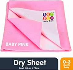 Bey Bee Waterproof Bed Protector for New Born Babies and Kids, Small, Pink (70 cm x 50 cm)