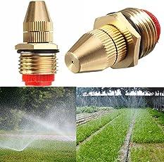 Generic 1/2-Inch Brass Atomizing Water Sprayer Nozzles Adjustable Sprinkler - Multicolour