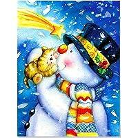 Bougimal 5D Broderie Diamant Noël kit, Peinture Diamant kits Craft Photos pour Home Décoration Murale,30X40cm