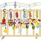 FancyWhoop Juguete Colgante para Bebé 6 Pack Juguetes de Sonajero para Colgar Juguete para Cuna de Bebé Educativo Sensorial d