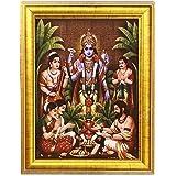 7 Hills Store Satyanarayana Swamy Photo Frame in Small Size (6 Inch x 8 Inch)