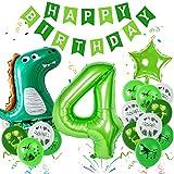 Sunshine smile Globos Numeros 4 Decoracion,Globos Numeros Gigantes,Decoración de cumpleaños Selva,Decoración de cumpleaños de