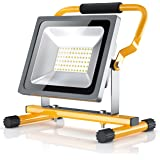 Brandson - 30W LED Projecteur de chantier | éclairage de travail | Work Lamp/Floodlight | pliable | 2500 lumens | pour l'usage en intérieur et extérieur | classe d'efficacité énergétique A+