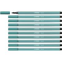 Feutre dessin - STABILO Pen 68 - Lot de 10 feutres pointe moyenne - Turquoise (68/51)