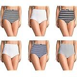 Pepperika Women's Cotton Panties (Pack of 6)
