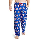 MARVEL Captain America Mens Lounge Bottoms, 100% Cotton Male Clothing, Men Pyjamas, Birthday Gifts for Him, Elasticated Waist