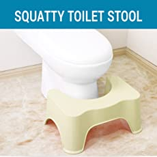 TIED RIBBONS Squatty Potty Bathroom Toilet Stool for Western Toilets -(53 x 20 x 20 CM,Plastic) Assorted Color
