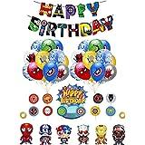 Decoracion Cumpleaños Superheroes Globos de Superheroes Feliz Cumpleaños del Pancarta Superhéroes Cake Toppers