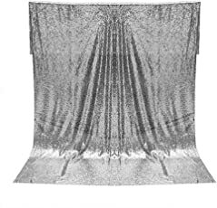 Vosarea 1.2x1.8M Shimmer Sequin Fabric Photography Backdrop Drape Curtain for Wedding Party