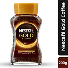 Nescafe Gold Blend Instant Coffee Powder, 200g Eden Jar