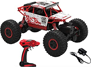 Webby Remote Controlled Rock Crawler Monster Truck, Red