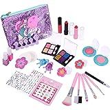joylink Maquillaje Niñas Set, Cosméticos Juguete 27pcs Juego de Maquillaje para Niños Cosméticos Lavables Princesa Regalos de