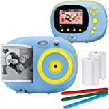 Sunny & Fun Crafty Cam | Kids Instant Print Camera & Video Camcorder Bundle with 2.4 Inch HD Digital Screen, Timer…