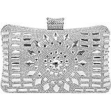 SYMALL Donna Pochette Elegante Diamante Cristallo Scintillante Clutch da Cerimonia Borsa Sera Festa Matrimonio Clutch Strass