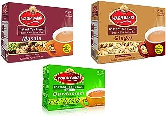 WAGH BAKRI INSTANT TEA PREMIX ELAICHI,GINGER & MASALA COMBO PACK