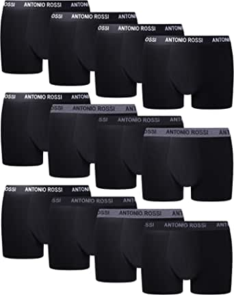 FM London Antonio Rossi Men's Fitted Boxer Hipsters (Pack of 12)