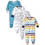 Onesies Brand Baby Boys 4-Pack Sleep 'N Play Footie Baby and Toddler Sleepers
