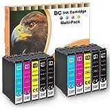 D&C 10x Cartucce d'inchiostro Sostituzione per Epson 18 18 XL Compatibile con Epson Expression Home XP-322 XP-215 XP-205 XP-2