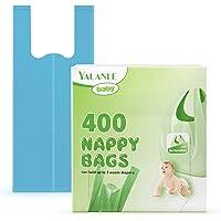 Sacchetti per pannolini usa e getta per bambini, 100% compostabili, biodegradabili, con manici Easy-Tie, adatti per il…