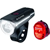 Sigma Sport LED Fahrradbeleuchtung-Set AURA 60 USB/NUGGET II, Frontlicht und Rücklicht, StVZO Zulassung, Akku…