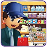 Supermarket boy food shopping