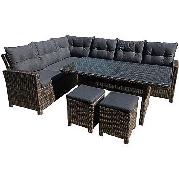 Amazon.de: greemotion Rattan Lounge Set Melina-Gartenmöbel