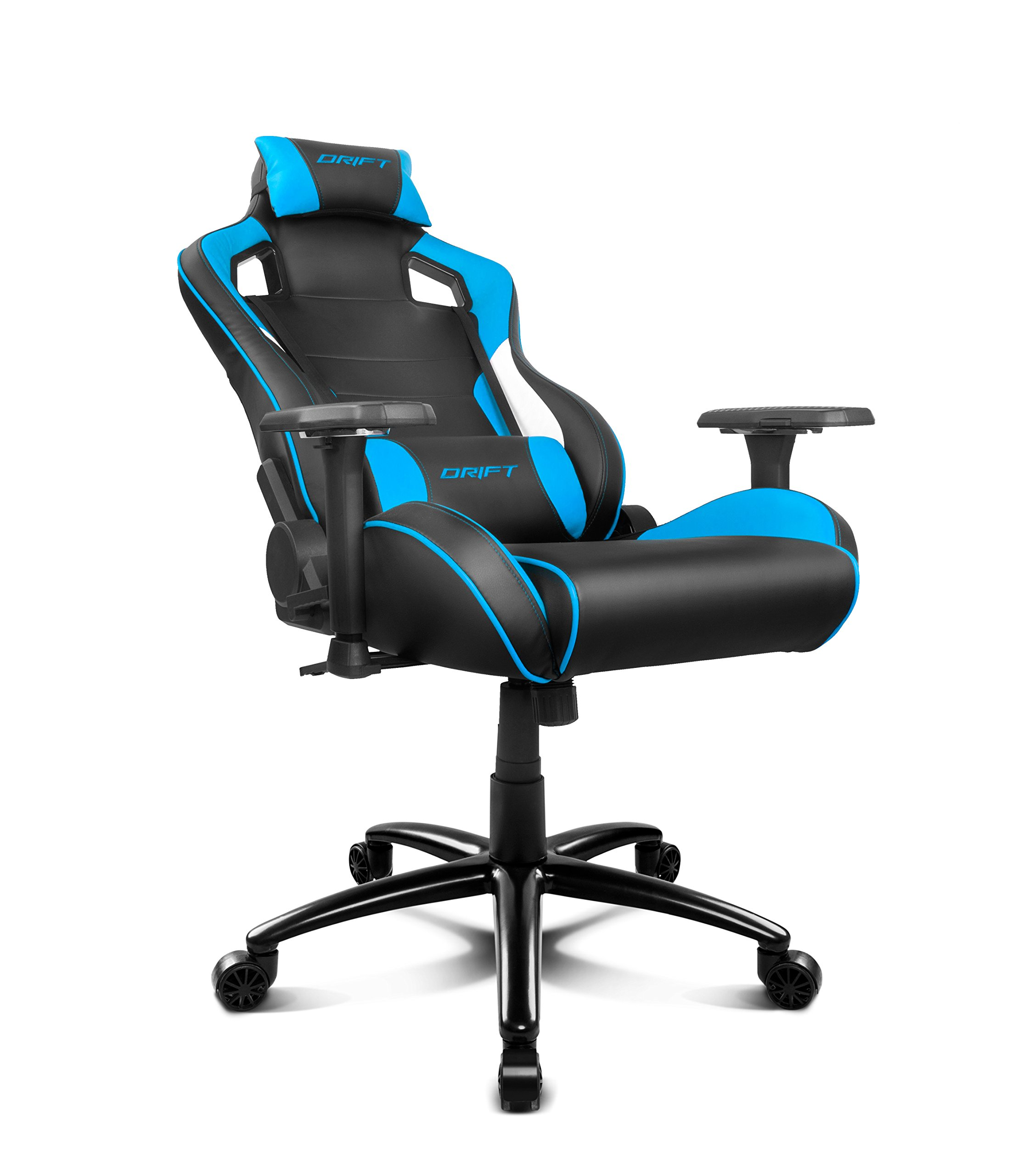 81aZOnHTV4L - Drift DR400BL - Silla Gaming, Color Negro y Azul