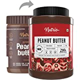 Nutrio Chocolate Peanut Butter 1 KG Creamy (Chocolaty Flavour) | 20% Protein | Made with Roasted Peanuts, Cocoa Powder & Choc