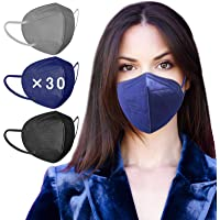 AHOTOP FFP2 Masken Mundschutz, 30 Stück FFP2 Maske Bunt, FFP2 Maske CE Zertifiziert, Bunte FFP2 Maske Farbig, FFP2 Maske…