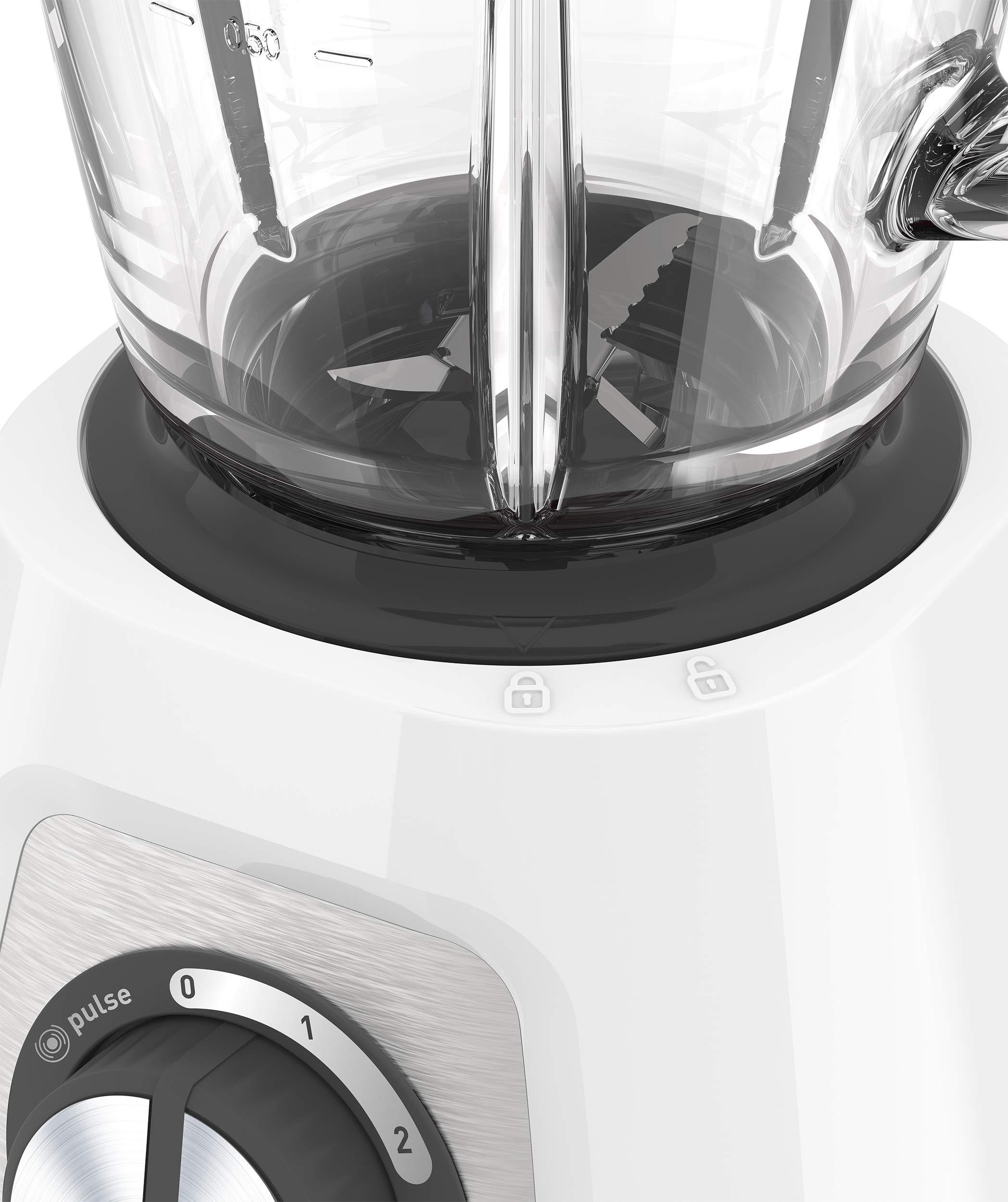 Krups-KB4351-Blendforce-Standmixer-800-Watt-125-l-Nutzkapazitt-Glasbehlter-edelstahlmesser-wei