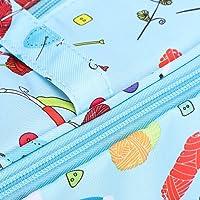 Sac à tricoter, organisateur d'aiguilles à tricoter transportant un sac à tricoter stockage de fil, pour crochets…