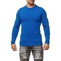Happy Clothing, maglietta da uomo girocollo a maniche lunghe