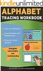 Alphabet Tracing Workbook (Preschool Worksheets 8)