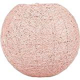 LUM&CO Abat-jour suspendu en forme de boule, rose, 20 x 19 x 20 cm