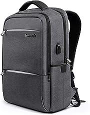 Inateck Zaino per laptop da 15-15,6 pollici anti borseggio anti graffio con presa ricarica USB e anti-spruzzo d'acqua con la cover anti-pioggia