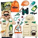 Tacobear Kit Explorador Niños Aire Libre Aventura Juguetes con Prismáticos Lupa Cazamariposas Silbato Juguetes Educativo Jugu
