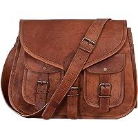 Komal's Passion Leather KPL Sac à main en cuir véritable pour femme 35,6 cm, sac fourre-tout, sac en bandoulière