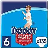Dodot Luiers voor baby's, maat 6 (+15 kg), 135 luiers, luierbroekjes met 360 graden instelling, lekvrij.